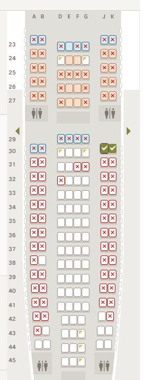Hinflug Sitzplan 20.09.2014
